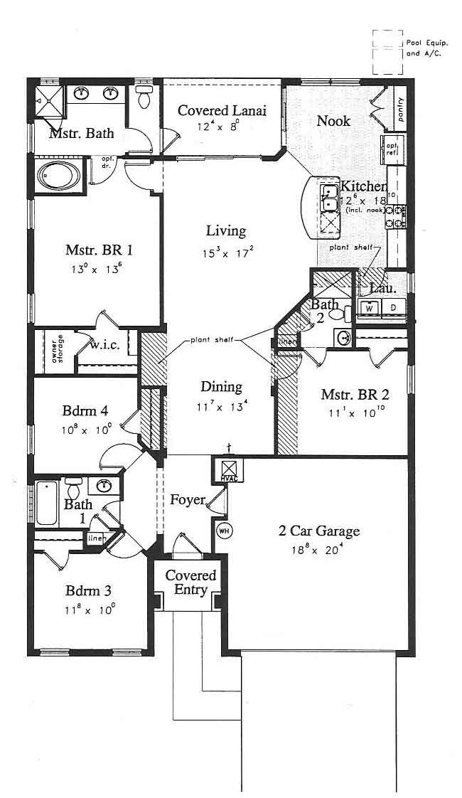 4 bed orlando villa floor plan
