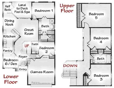 6 Bed floorplan