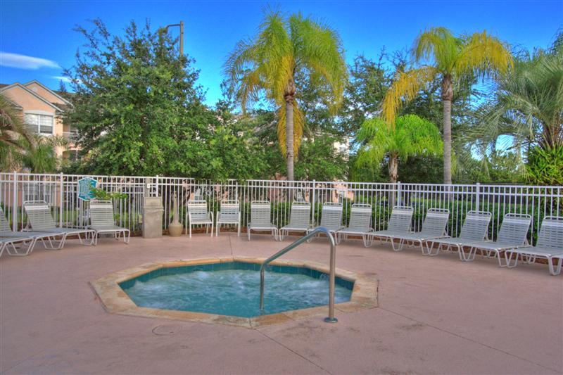 Windsor Palms Florida. Clubhouse hot tub. One of the many facilities at our resort community.