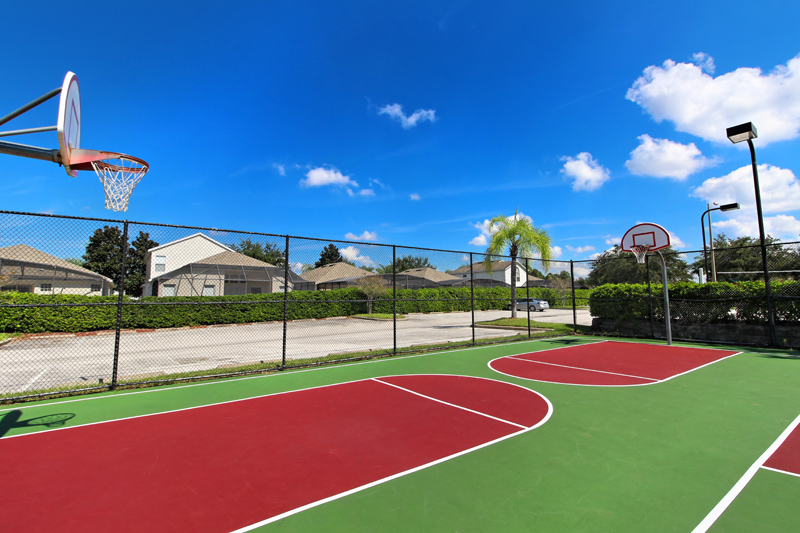 Lighted Basketball Courts