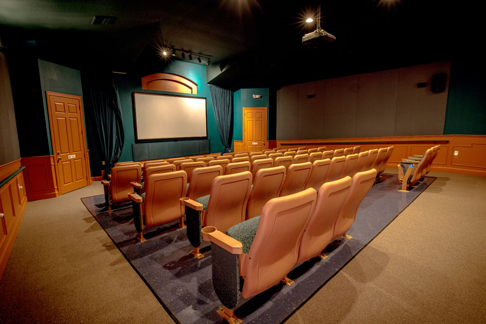57 Seat Movie Theater has daily schedules that includes 3D Movies