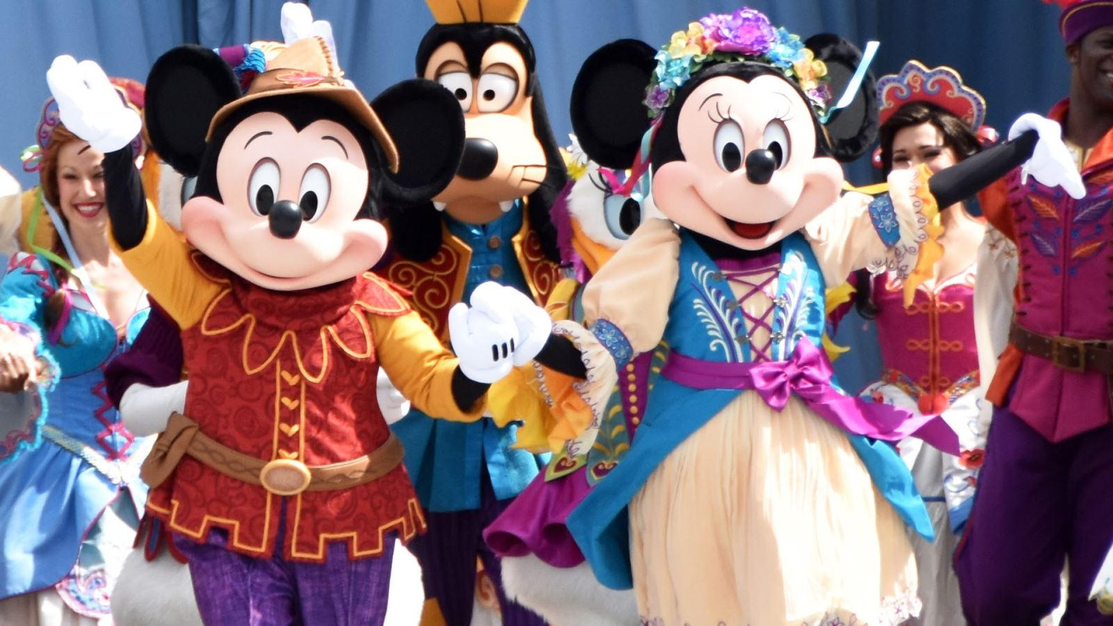 Mickey and friends at Disney's Magic Kingdom